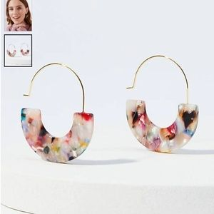 NWT LOFT MARBELIZED PULL THROUGH EARRINGS